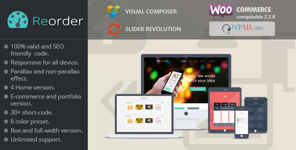Reorder || Responsive WP/Woo-commerce theme - WooCommerce eCommerce