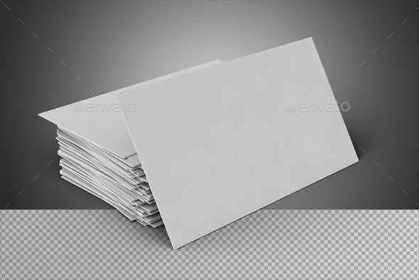 GraphicRiver Blank Business Card On Transparent Background 9642115