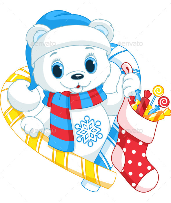 GraphicRiver Christmas Bear 9642171