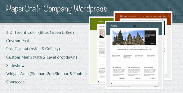 Papercraft Company Wordpress - Preview