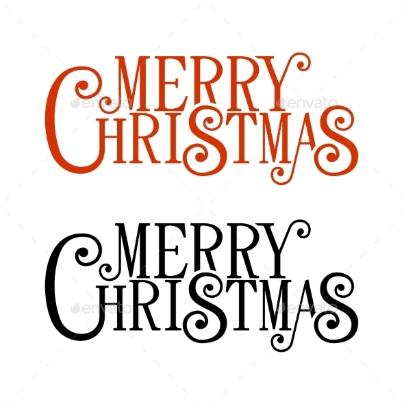 GraphicRiver Merry Christmas Lettering for Greeting Card 9642229