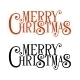 Merry Christmas Lettering for Greeting Card - GraphicRiver Item for Sale