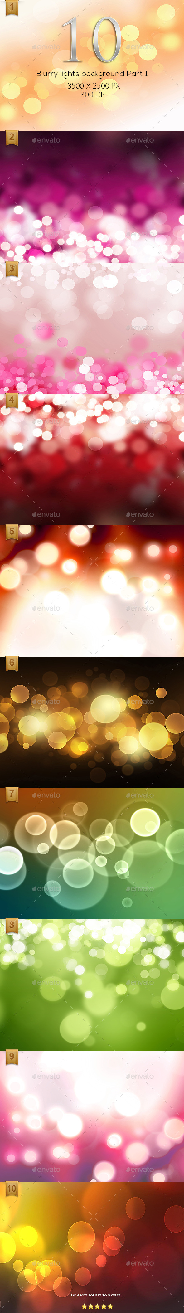 GraphicRiver 10 Blurry lights background High Resolution Part 1 9642294