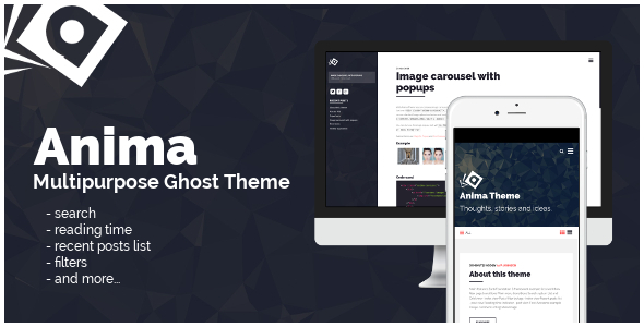 ThemeForest Anima Multipurpose Ghost Theme 9601972