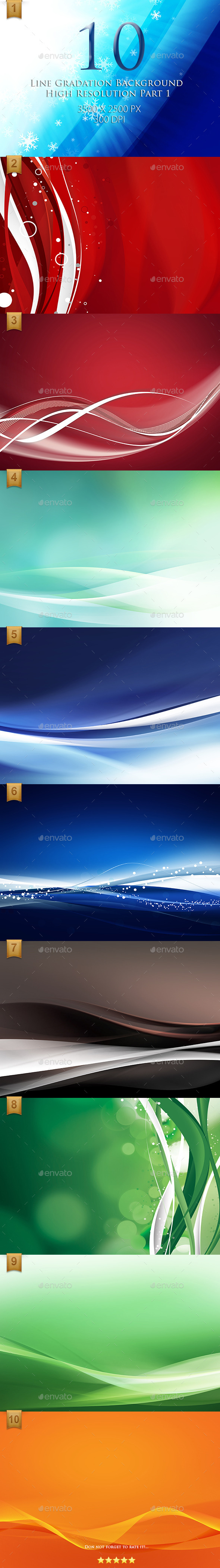 GraphicRiver 10 Line Gradation Background High Resolution 9642344