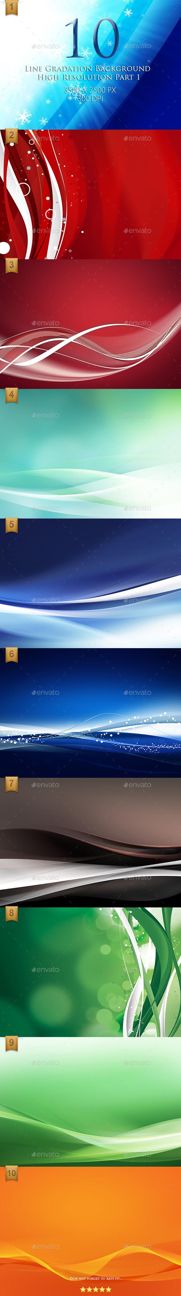 GraphicRiver 10 Line Gradation Background High Resolution 9642344