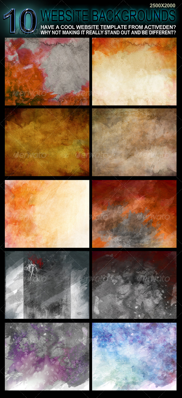 GraphicRiver 10 Original Website Backgrounds 2500x2000 122831
