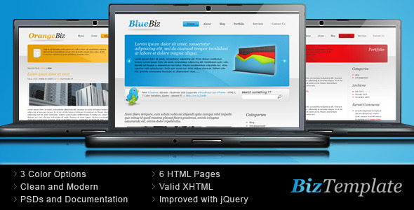 ThemeForest Biz Template Two Color Version 56461