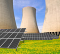 Nuclear power plant with solar panels - PhotoDune Item for Sale