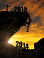 girl climbs into the New Year 2015 - PhotoDune Item for Sale