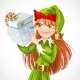 Santa Elf with Gift - GraphicRiver Item for Sale