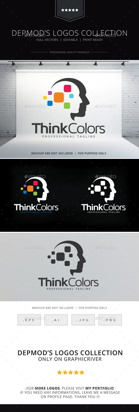 GraphicRiver Think Colors Logo 9642934