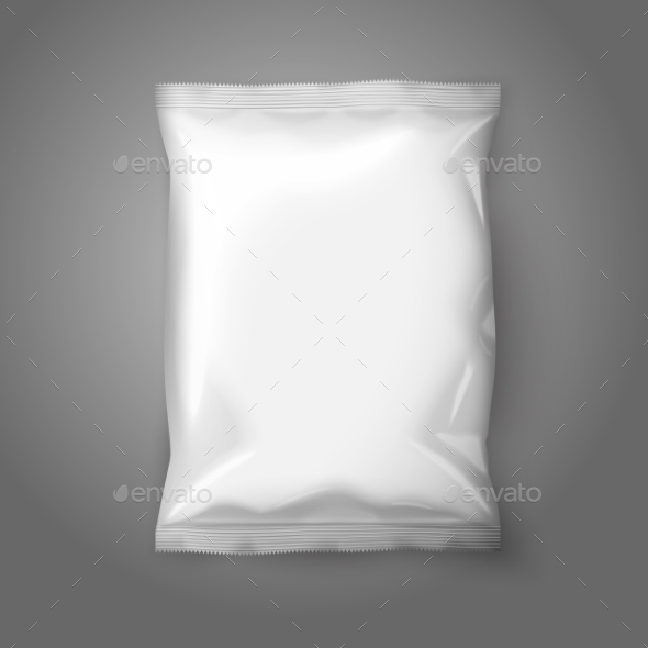 GraphicRiver Blank White Realistic Foil Snack Pack 9642940