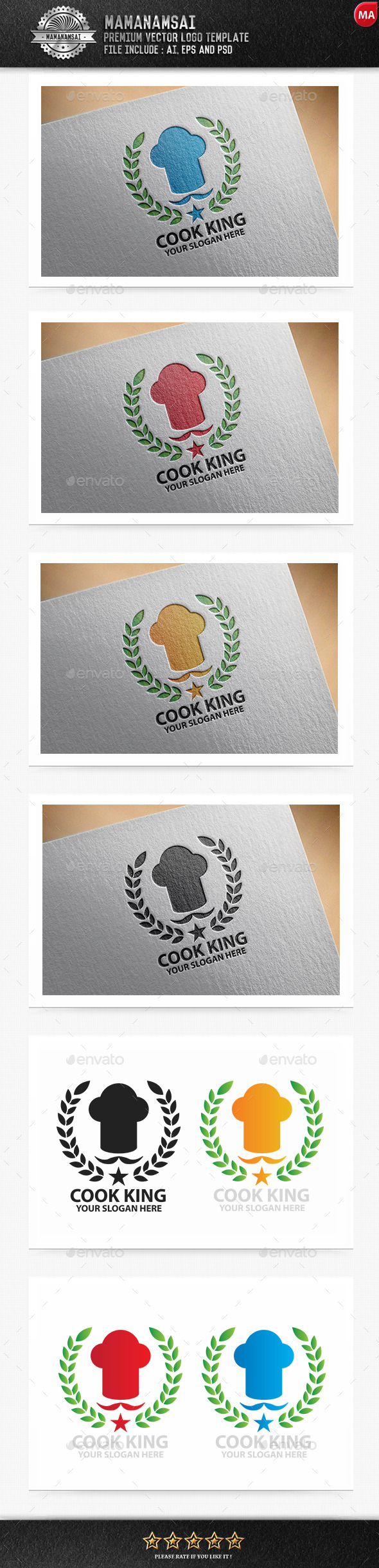 GraphicRiver Cook King Logo 9643308