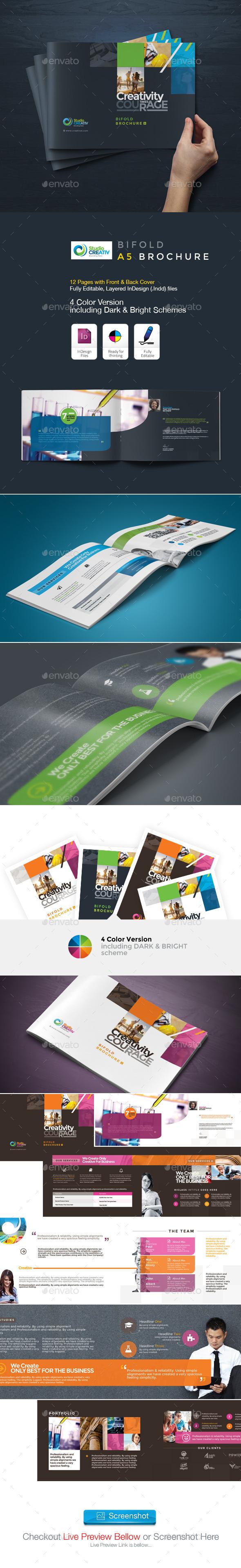 GraphicRiver Creative Bifold A5 Brochure 9604990