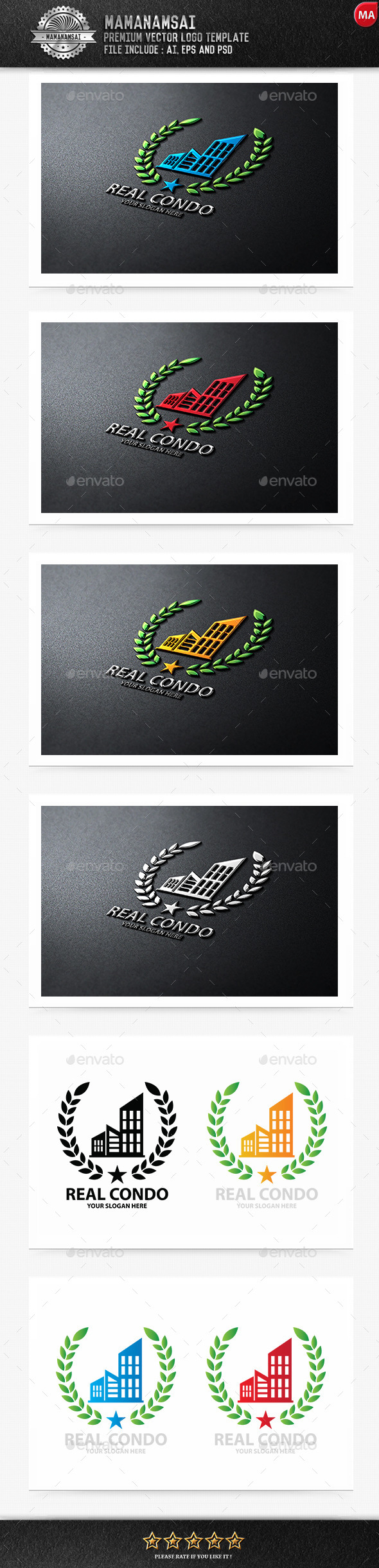 GraphicRiver Real Condo Logo 9643621