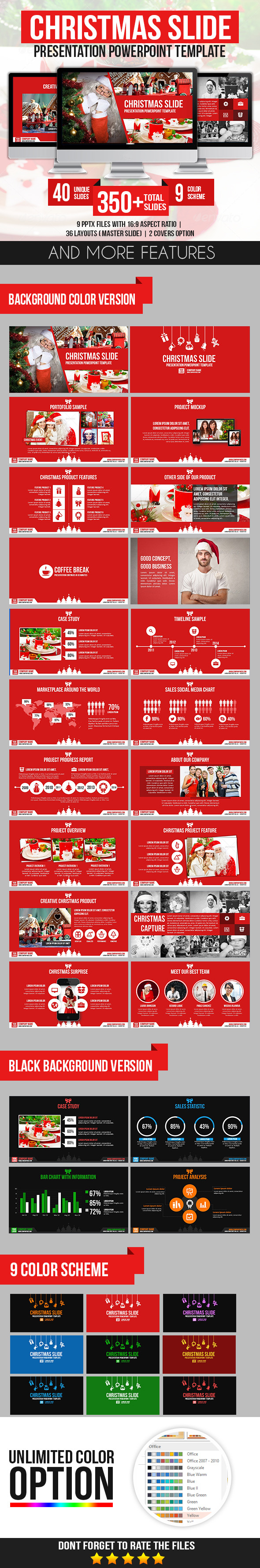 GraphicRiver Christmas Slide Presentation PowerPoint Template 9643734