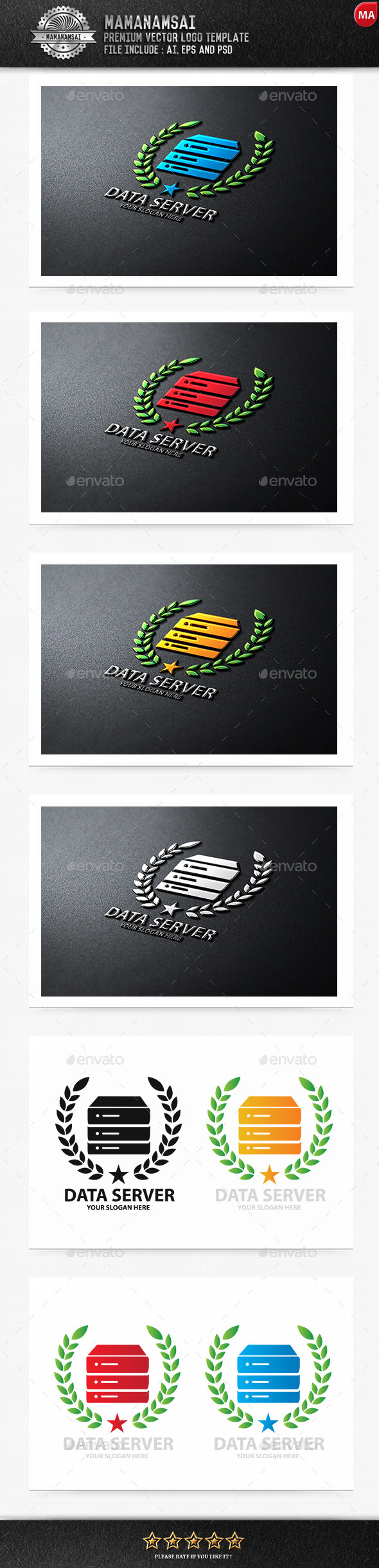 GraphicRiver Data Server Logo 9643858