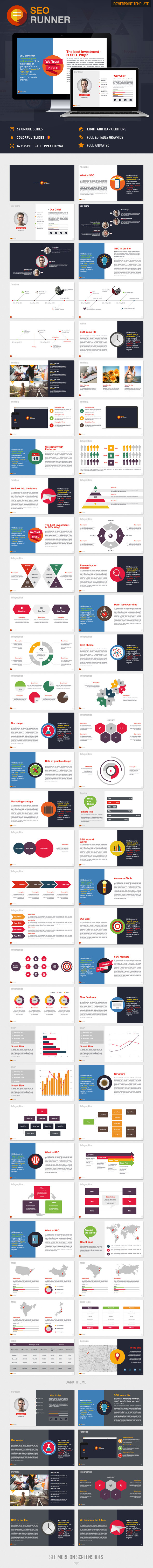 GraphicRiver SEO Runner PowerPoint Presentation Template 9643868