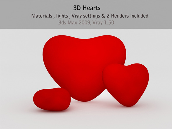 3D Heart setup - 3DOcean Item for Sale