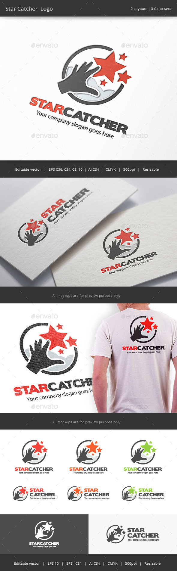 GraphicRiver Star Catcher Logo 9643936