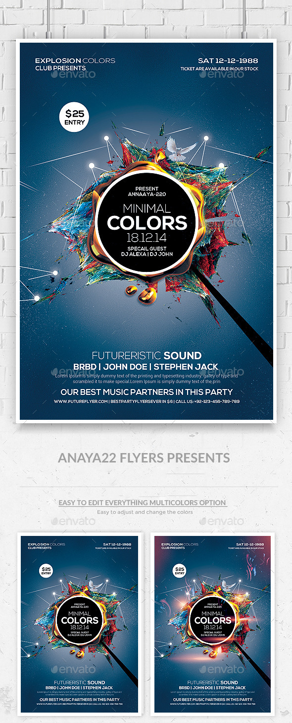 GraphicRiver Futuristic Flyer Psd Template 9644010