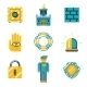 Colored Safety and Insurance Icons - GraphicRiver Item for Sale