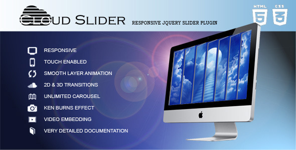 CodeCanyon Cloud Slider Responsive jQuery Slider Plugin 9444265