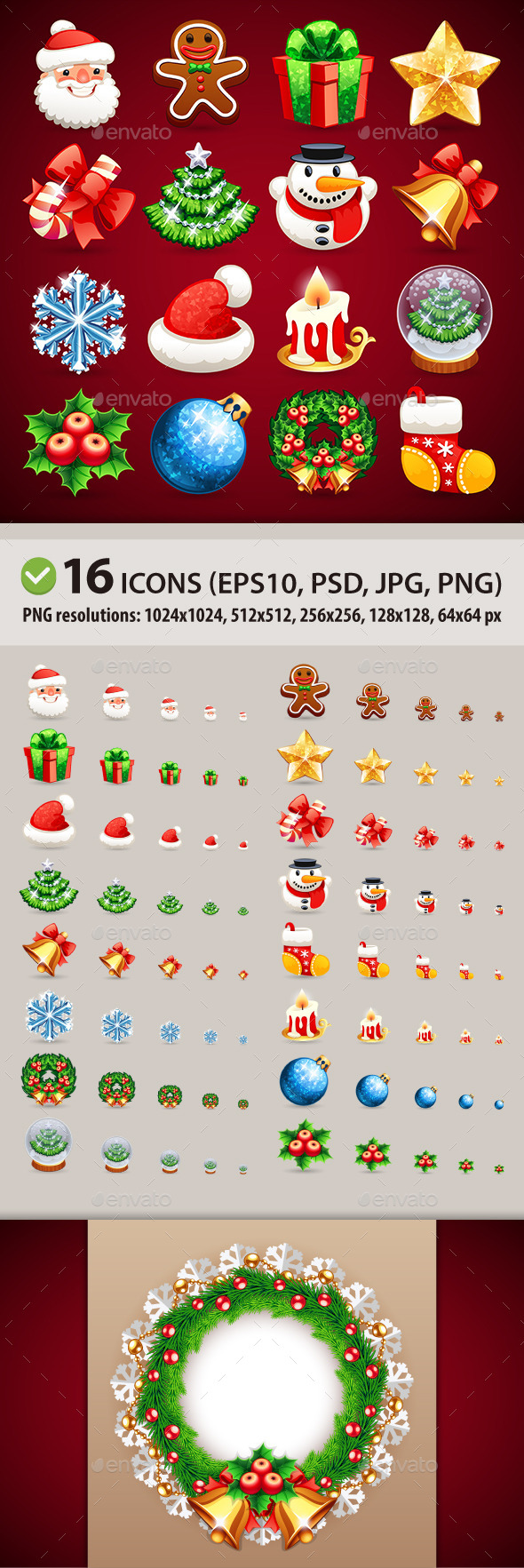 GraphicRiver Set of Christmas Icons 9637988