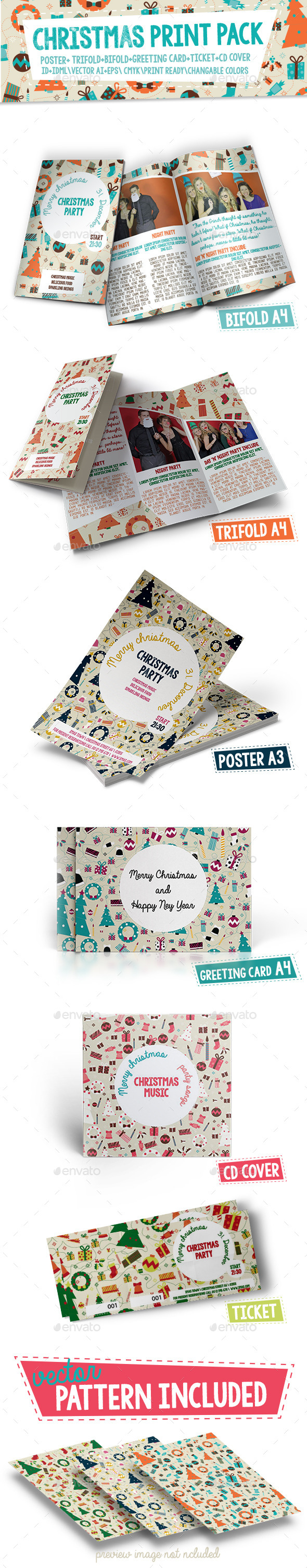 GraphicRiver Christmas Print Pack 9644112