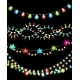 Colorful Christmas Lights Garlands - GraphicRiver Item for Sale