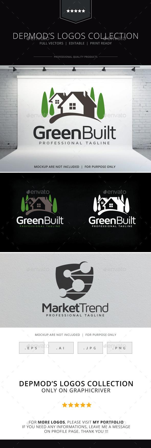 GraphicRiver Green Built Logo 9644292
