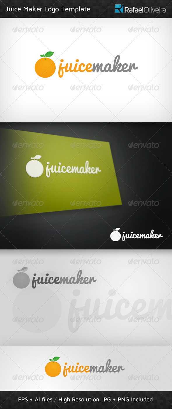 Juice Maker Logo Template