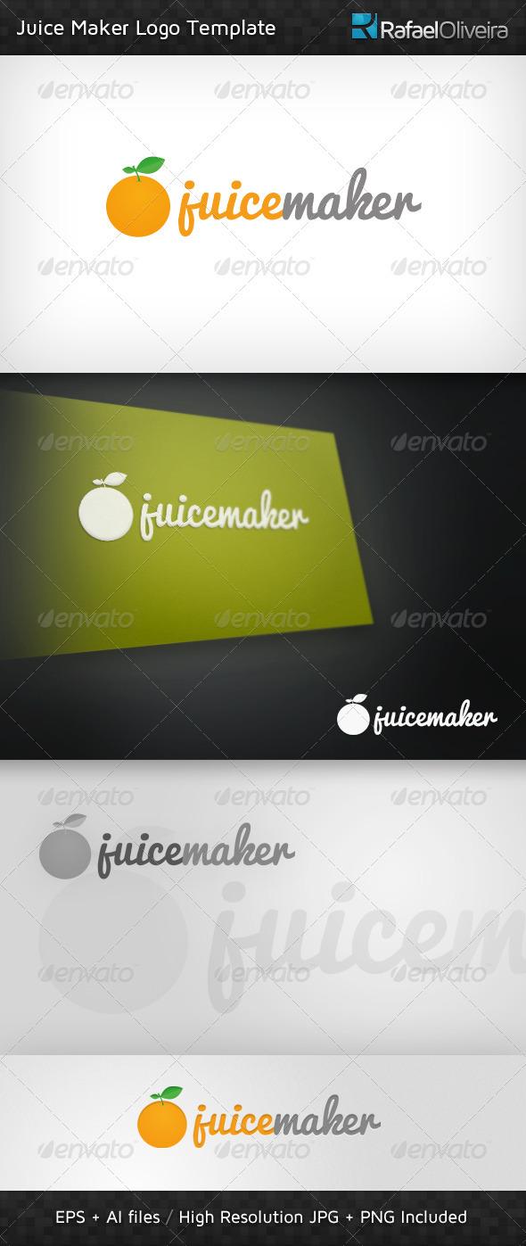 GraphicRiver Juice Maker Logo Template 980149