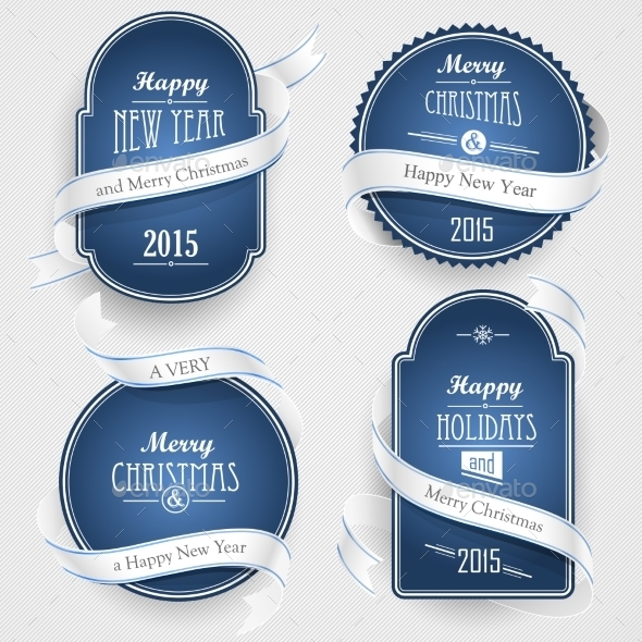 GraphicRiver Christmas Emblems 9644549