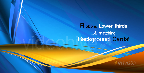 [VideoHive 122867] RIBBONS Lower third & Background COMBO | Motion Graphics