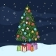 Postcard Illustration of Christmas Tree - GraphicRiver Item for Sale