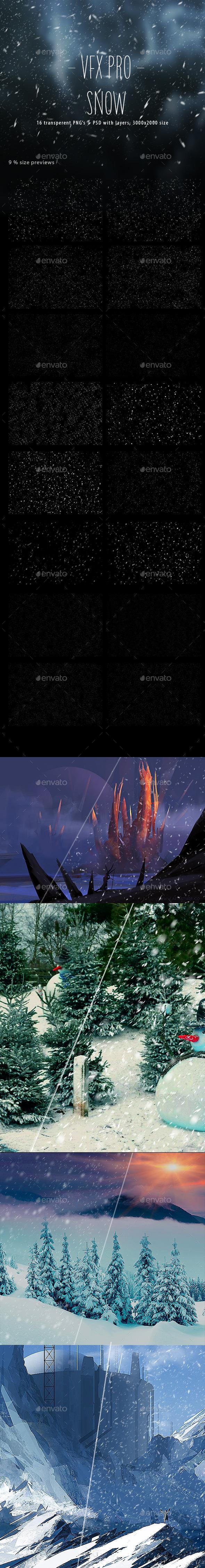 GraphicRiver VFX PRO Snow 9644905