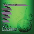 Merry Christmas Ball Doodles Label - PhotoDune Item for Sale