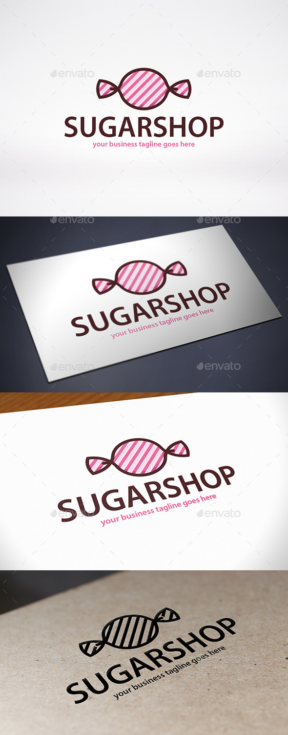 GraphicRiver Candy Shop Logo Template 9644982
