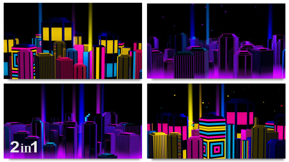 Neon Night City Loop 2-Pack