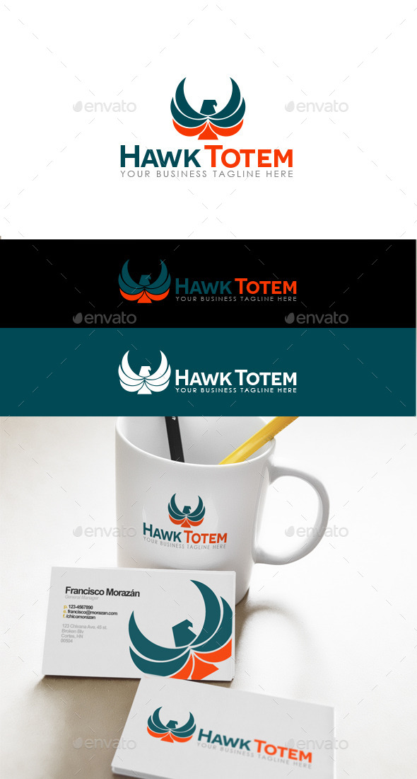 GraphicRiver Hawk Totem Logo 9645388