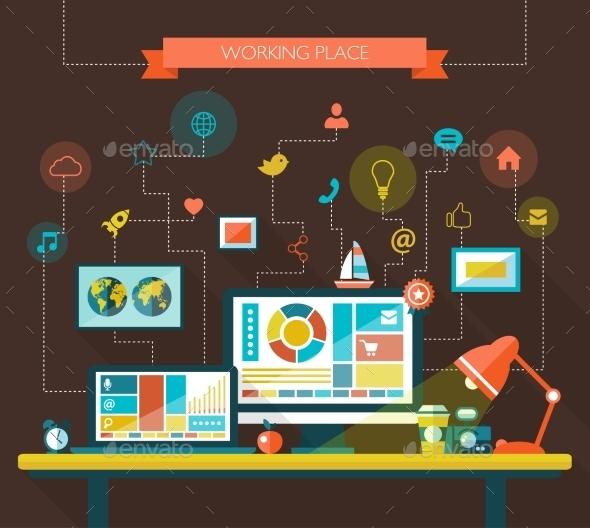 GraphicRiver Work Place 9645660