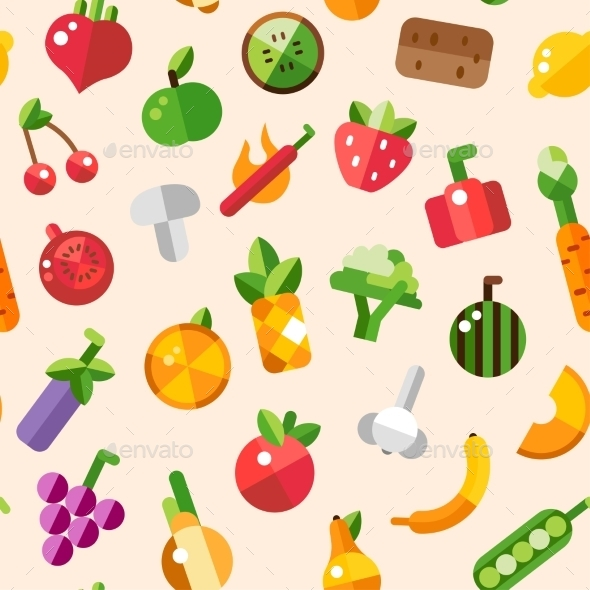 GraphicRiver Fruits and Vegetables 9645699