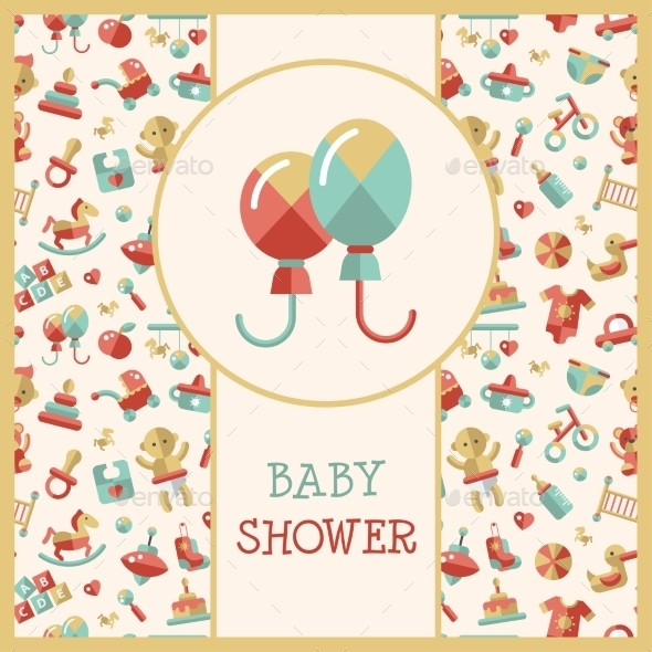 GraphicRiver Baby Shower Template 9645780