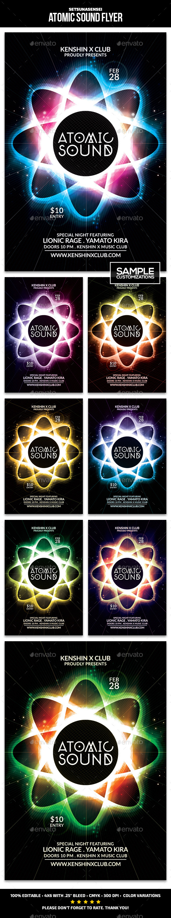 GraphicRiver Atomic Sound Flyer 9597880
