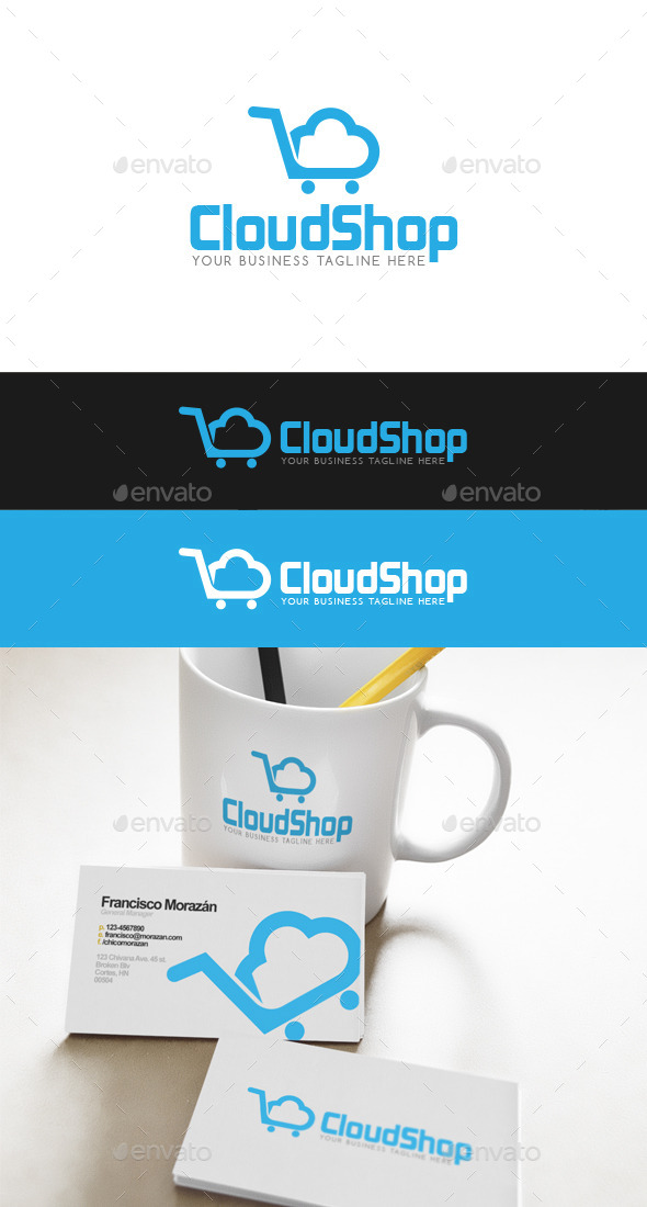 GraphicRiver Cloud Shop Logo 9645951