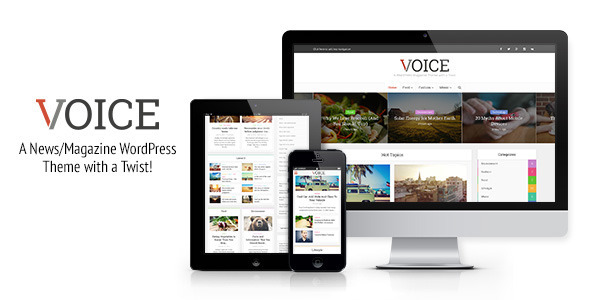 ThemeForest Voice Clean News Magazine WordPress Theme 9646105