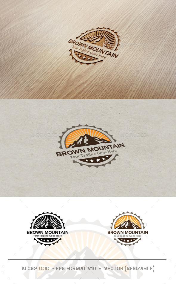 GraphicRiver Brown Mountain Logo 9646107