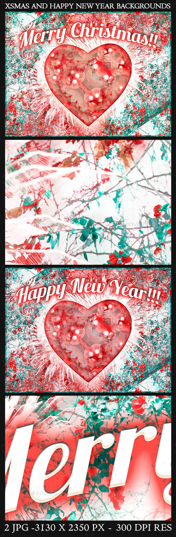 GraphicRiver Christmas and Happy New Year Backgrounds 9646249